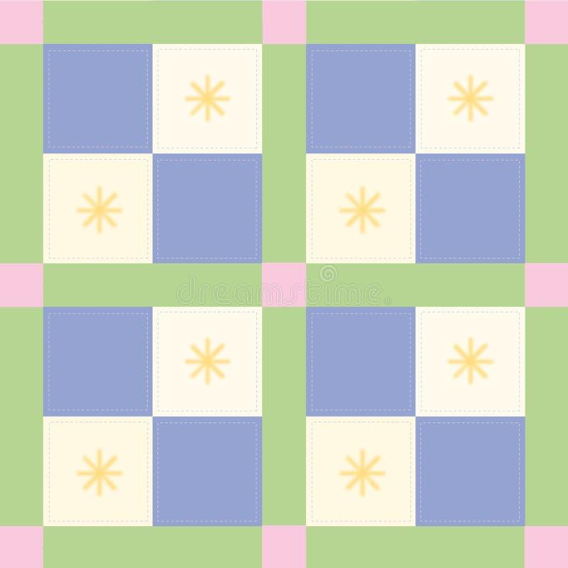 Blaues Check-Muster lizenzfreie abbildung