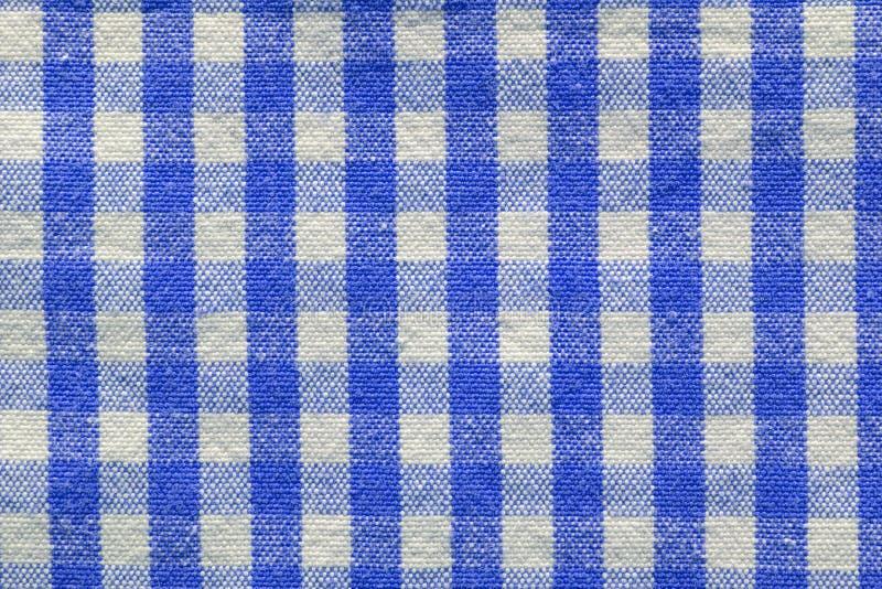 Blaues checkered Gewebe lizenzfreie stockfotos