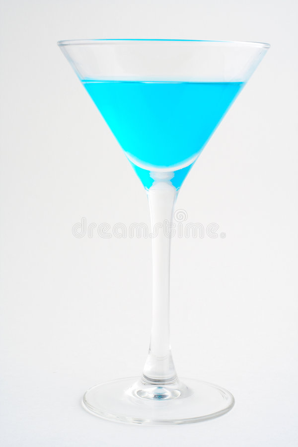 Blaues Cocktail lizenzfreie stockfotos