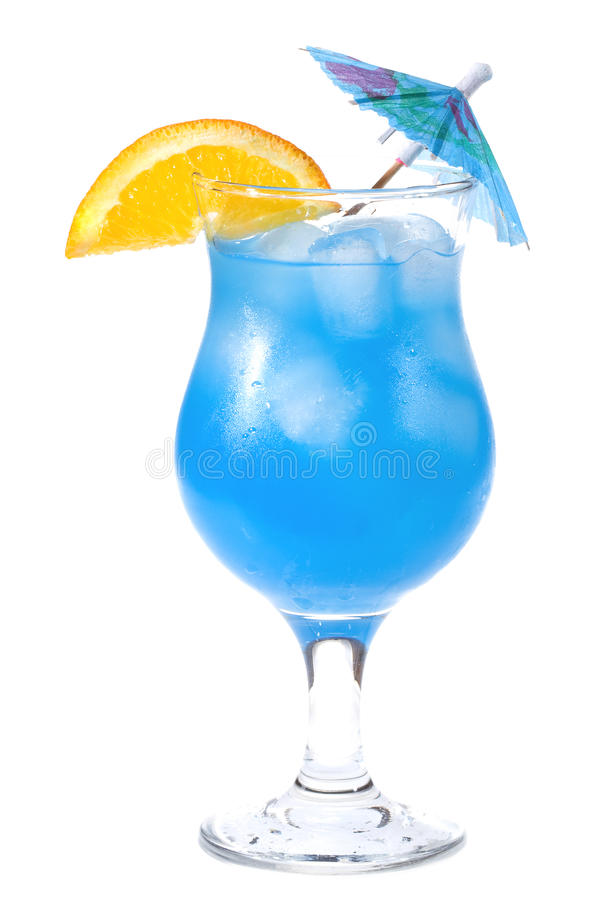 Blaues Curaçao-Cocktail lizenzfreie stockfotografie