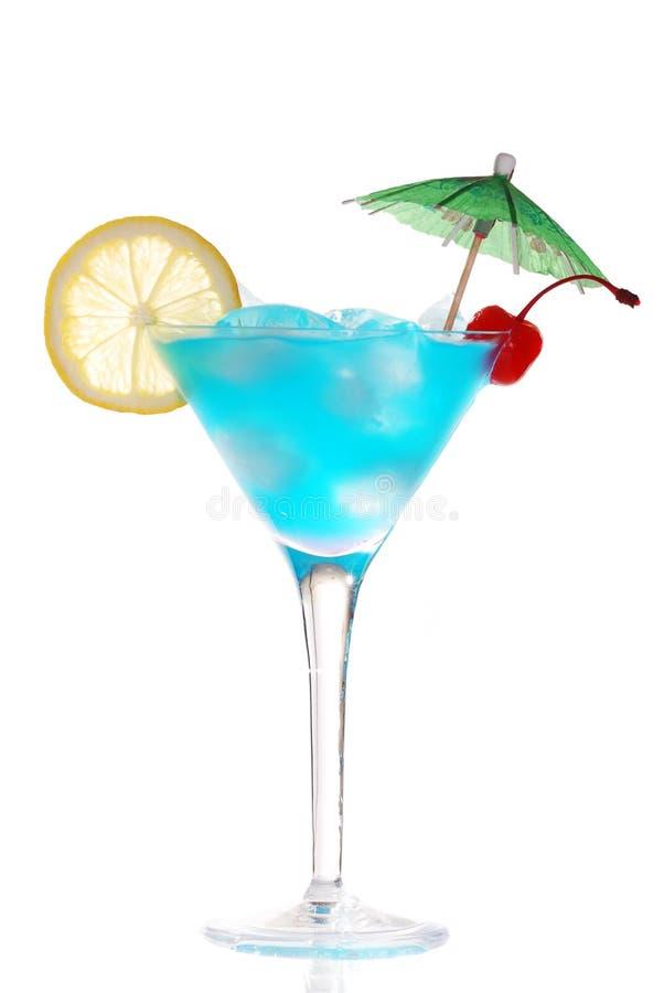 Blaues Curaçao-Cocktail lizenzfreies stockfoto