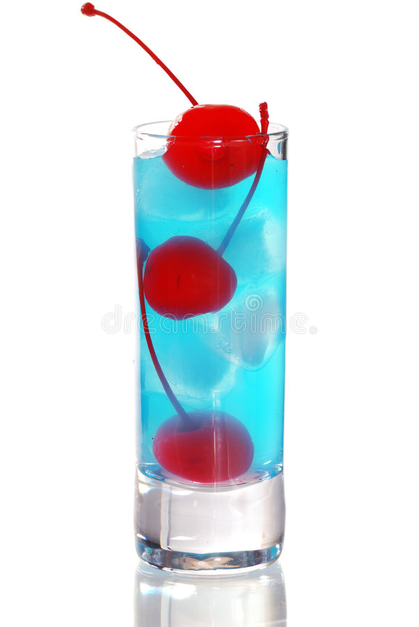 Blaues Curaçao-Cocktail stockfoto