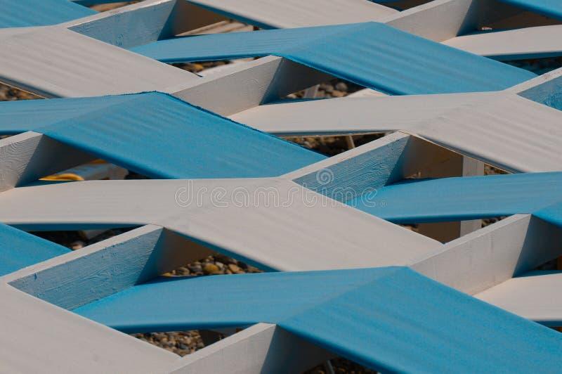 Blaues Dach des Caf?s stockfoto