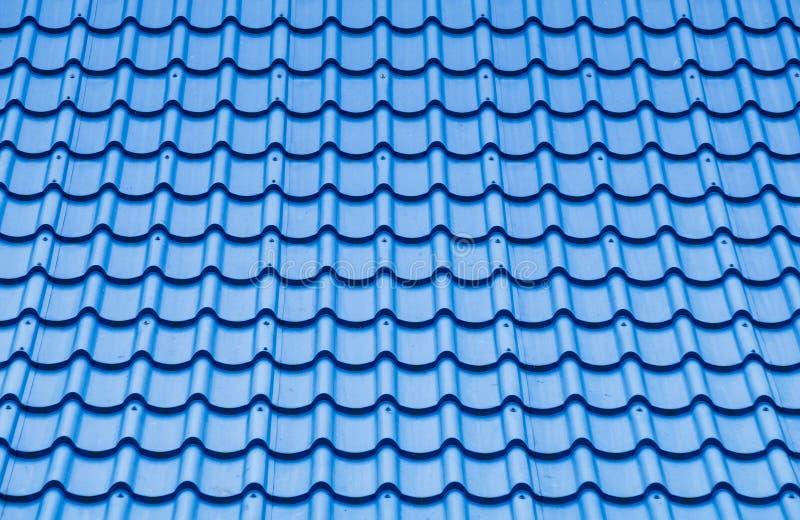 Blaues Dachplattemuster lizenzfreie stockfotografie