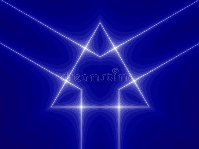 Blaues Dreieck-Symbol stock abbildung