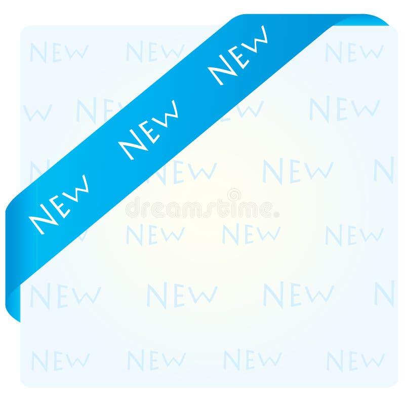 Blaues Eckfarbband vektor abbildung