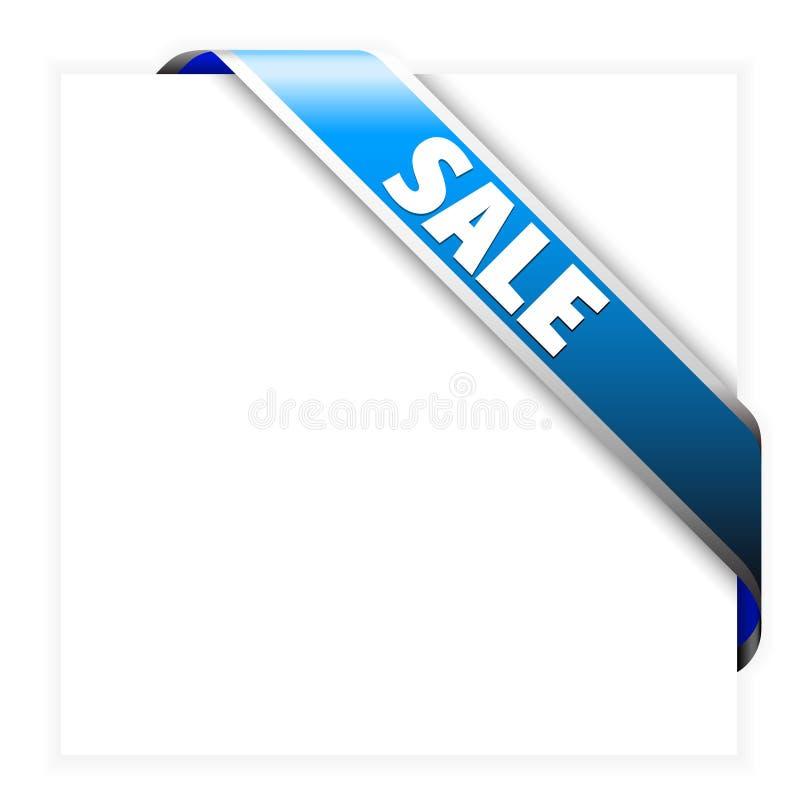 Blaues Eckverkaufsfarbband vektor abbildung