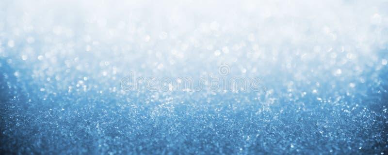 Blaues Eiswinter-Kunst bokeh lizenzfreie stockfotografie