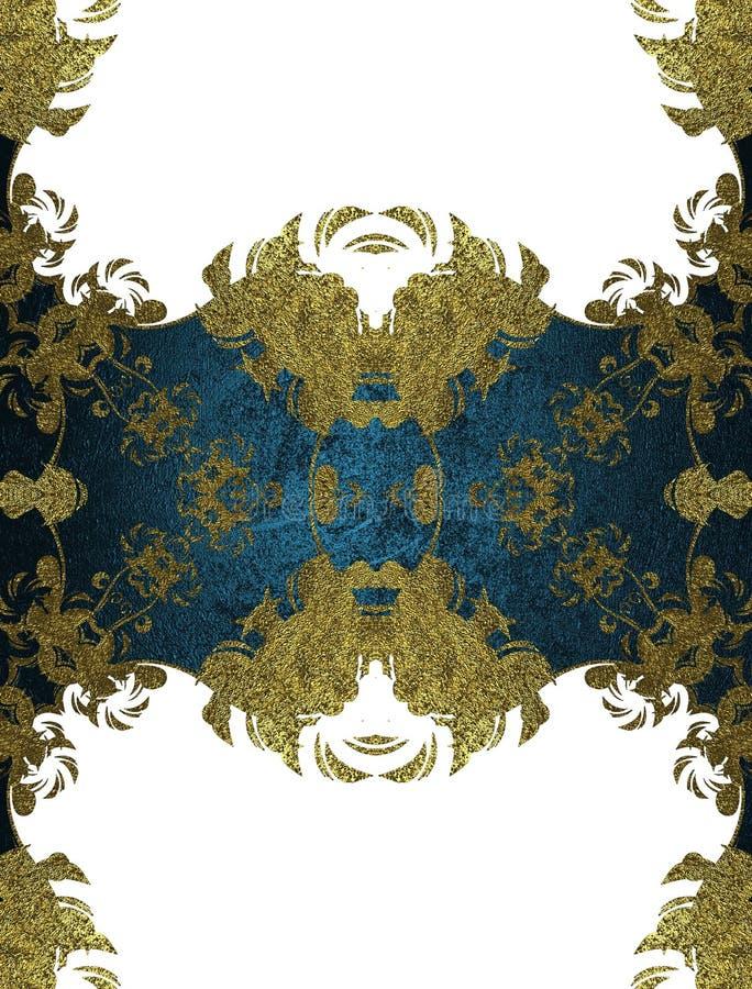 Blaues Element für Design Schablone für Entwurf kopieren Sie Raum für Anzeigenbroschüre oder Mitteilungseinladung, abstrakter Hin lizenzfreie abbildung