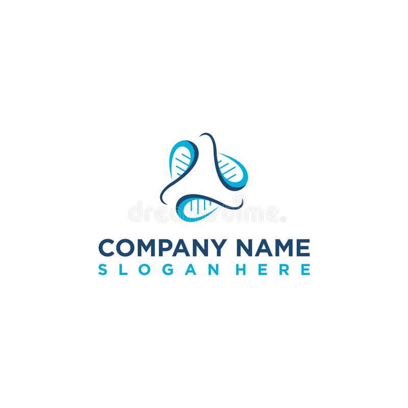 Blaues Erbgut oder Gen für die Inspiration von Logodesigns vektor abbildung