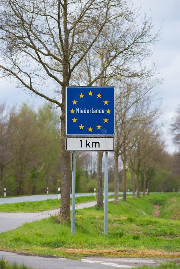 Blaues Eu-Zeichen, welches die Niederlande kommt lizenzfreie stockbilder