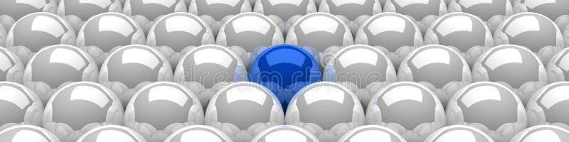Blaues Führerbereichkonzept 3 lizenzfreie abbildung