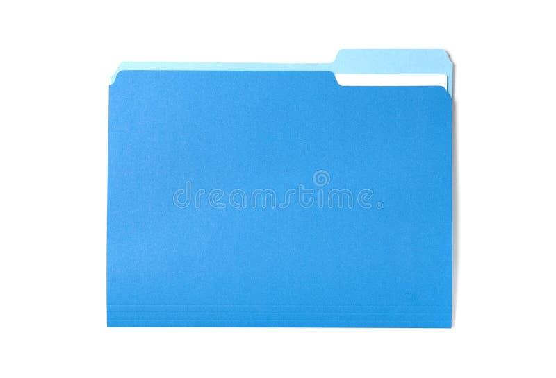 Blaues Faltblatt lizenzfreie stockfotos