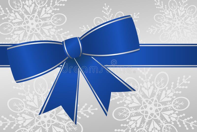 Blaues Farbband-Bogen stock abbildung