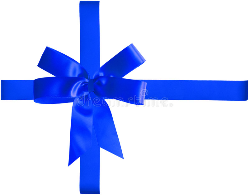 Blaues Farbband und Bogen stockfotografie