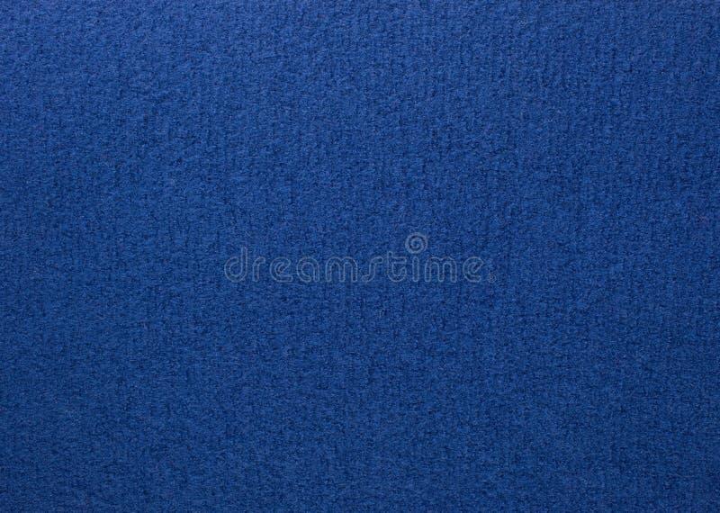 Blaues farbiges Wollegewebe stockbilder