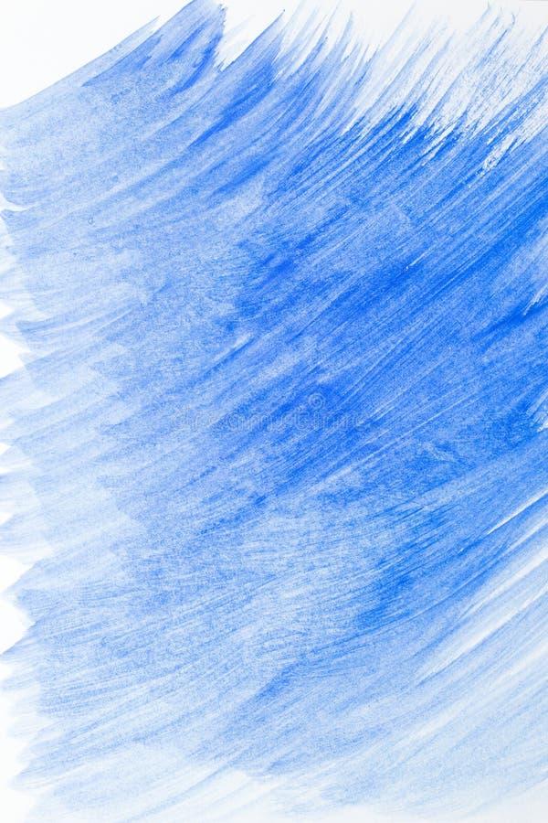 Blaues Farbspritzenaquarell handgemalt auf weißem Hintergrund, künstlerischer Dekoration oder Hintergrund stockbilder