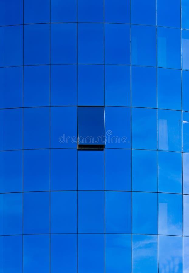 Blaues Fenstermuster stockfotografie