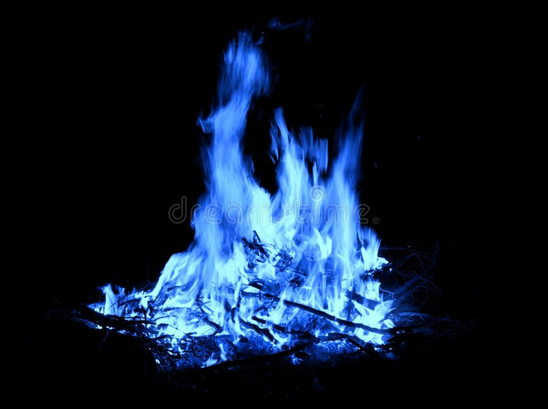 Blaues Feuer lizenzfreie stockfotos