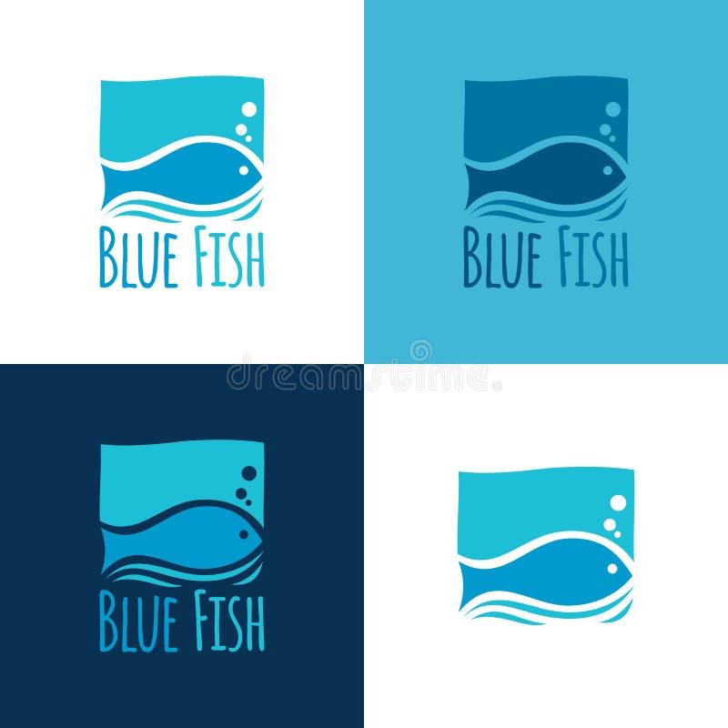 Blaues Fischzeichen Auch im corel abgehobenen Betrag lizenzfreies stockfoto