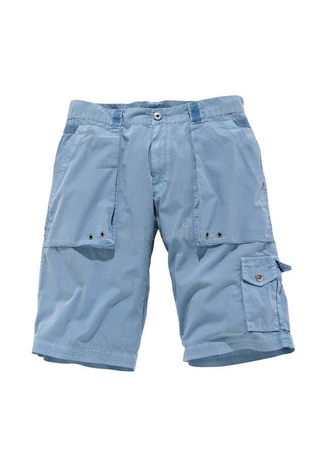 blaues Fracht-Ähnliches der kurzen Hosen stockfoto