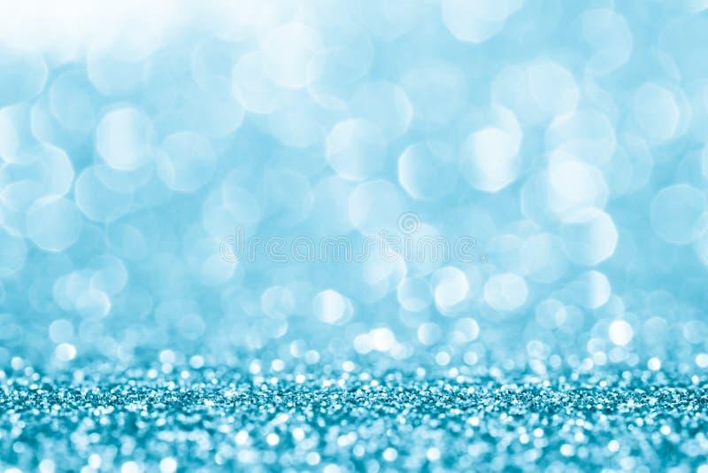 Blaues Funkeln für abstrakten Hintergrund stockbild