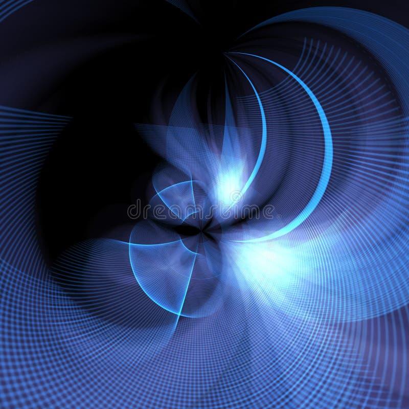Blaues gebogenes Gitter stockbild