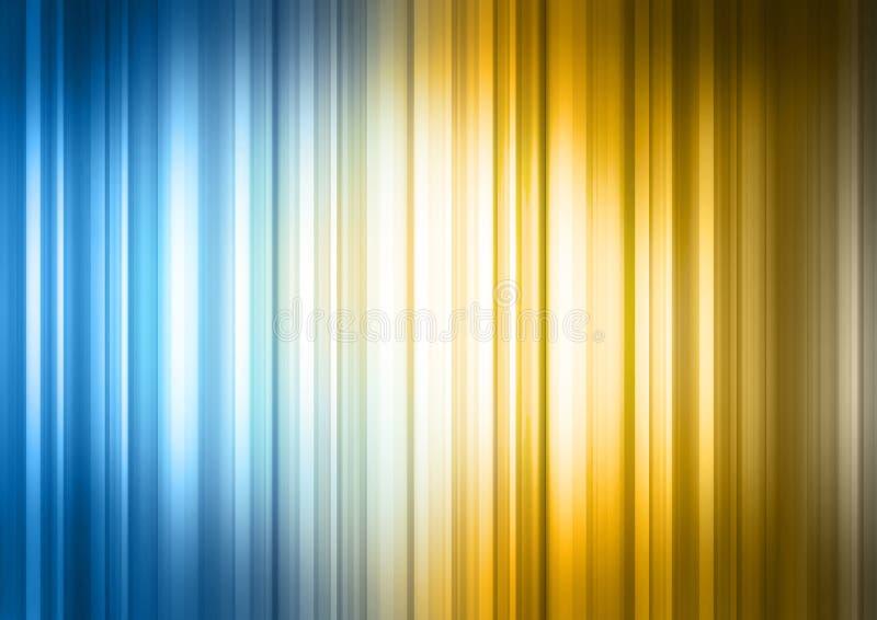Blaues gelbes gestreiftes Spektrum lizenzfreie abbildung