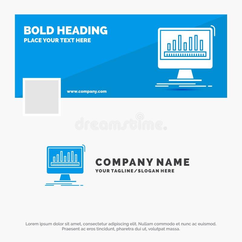 Blaues Geschäft Logo Template für Analytics, verarbeitend, Armaturenbrett, Daten, Notfall r Thema der Kinder stock abbildung