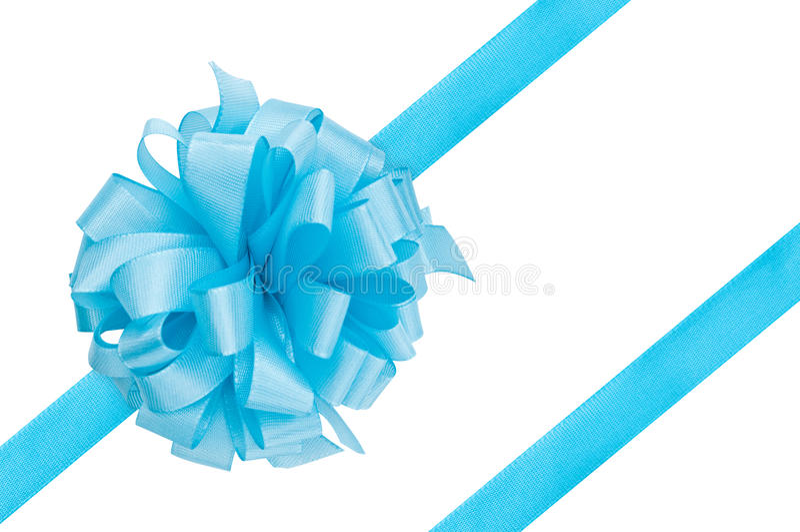 Blaues Geschenkfarbband stockfotos