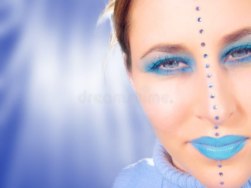 Blaues Gesicht lizenzfreie abbildung