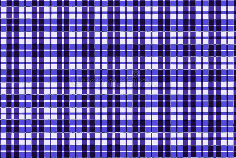 Blaues Gewebeschottischer quadratischer Musterhintergrund lizenzfreie abbildung