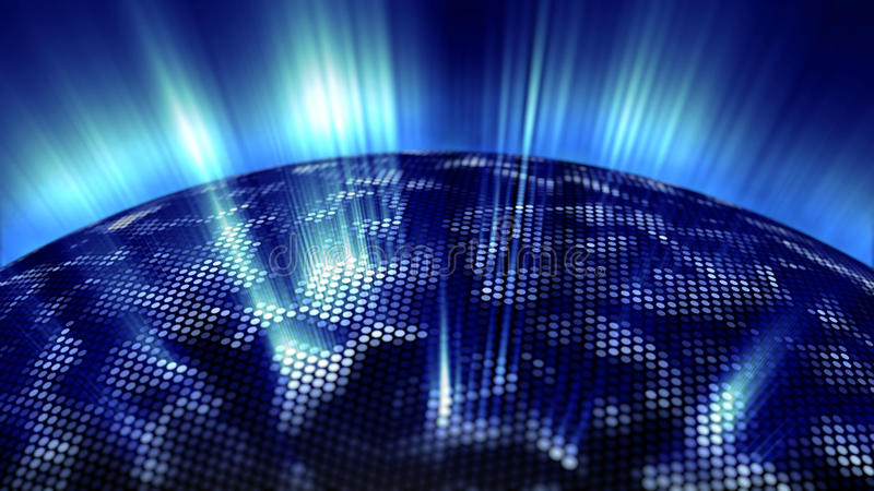 Blaues Glühen des digitalen Bereichs stock abbildung