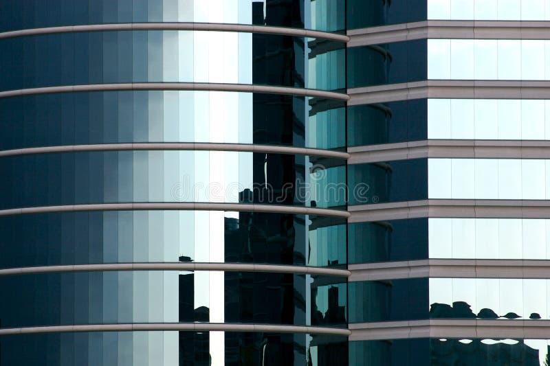 Blaues Glashightechs-Büro lizenzfreie stockbilder