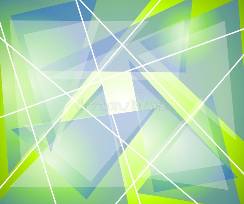 Blaues Grün-Dreieck-Zeilen vektor abbildung
