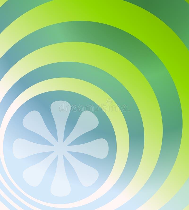 Blaues Grün-Retro- Hintergrund lizenzfreie abbildung