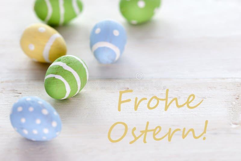 blaues gr n und gelb ostereier mit deutschen durchschnitten fr hliche ostern text frohe ostern. Black Bedroom Furniture Sets. Home Design Ideas