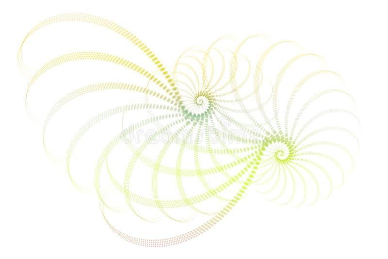 Blaues Grünweiße Fractal-Auszugs-Auslegung lizenzfreie abbildung