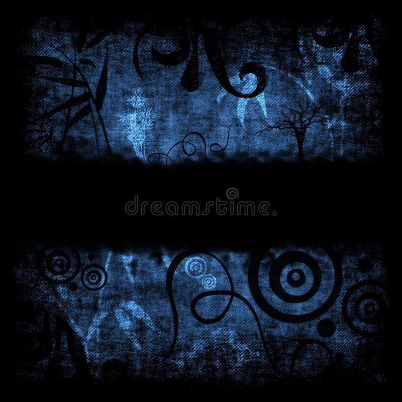 Blaues grunge Retro- Hintergrund vektor abbildung