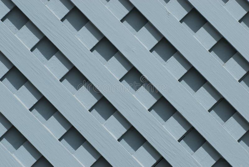 Blaues hölzernes Gitter stockfotos