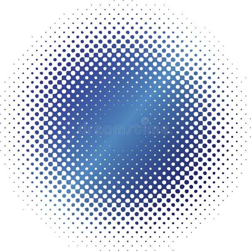 Blaues Halbtonunschärfenglänzen und -metall stock abbildung