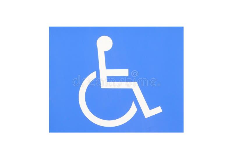 Blaues Handikapparken stockfoto