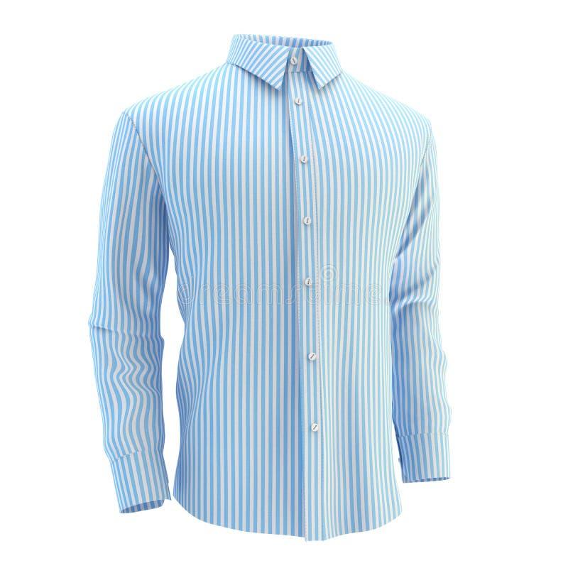 Blaues Hemd auf einem weißen Hintergrund lizenzfreies stockfoto