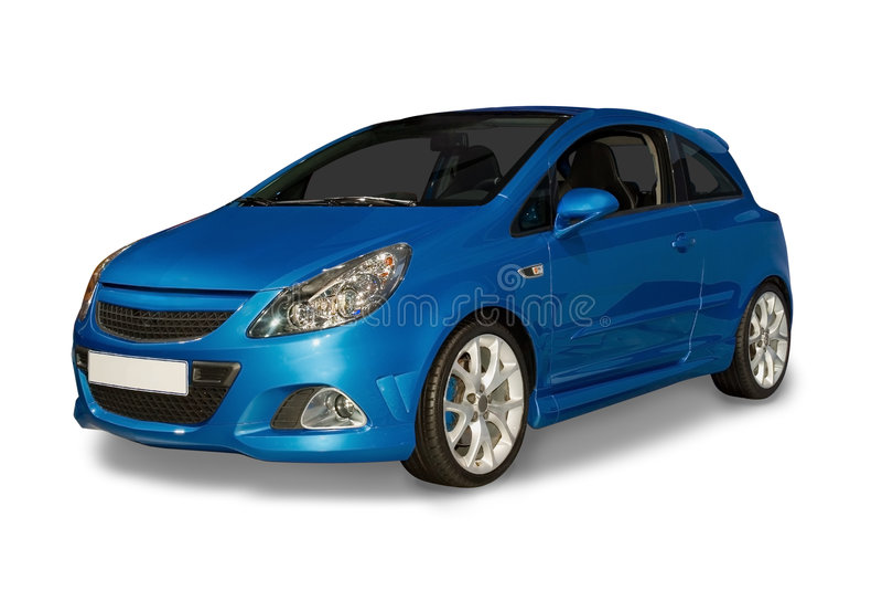 Blaues hybrides Auto lizenzfreies stockbild