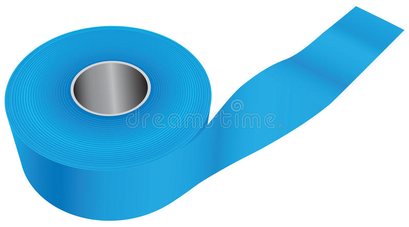 Blaues industrielles Band lizenzfreie abbildung