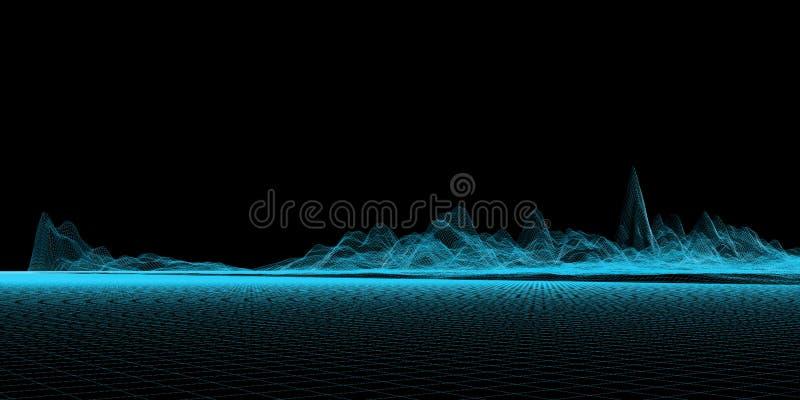 Blaues Ineinander greifen stock abbildung