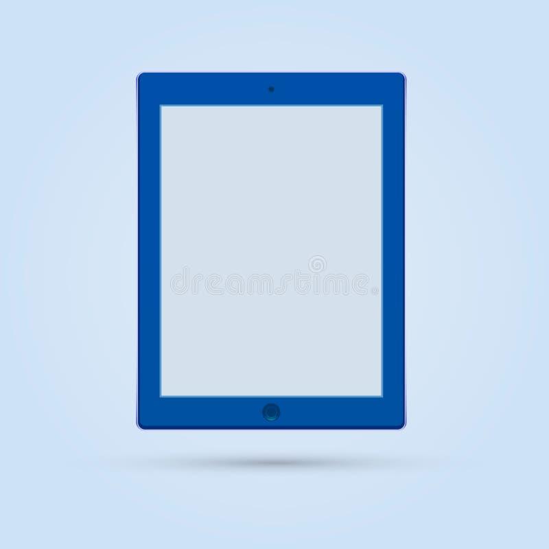 Blaues ipad lizenzfreie stockfotografie