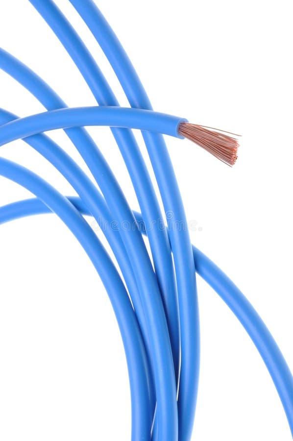 Blaues Kabel Der Elektrischen Leistung Stockbild - Bild von studio ...