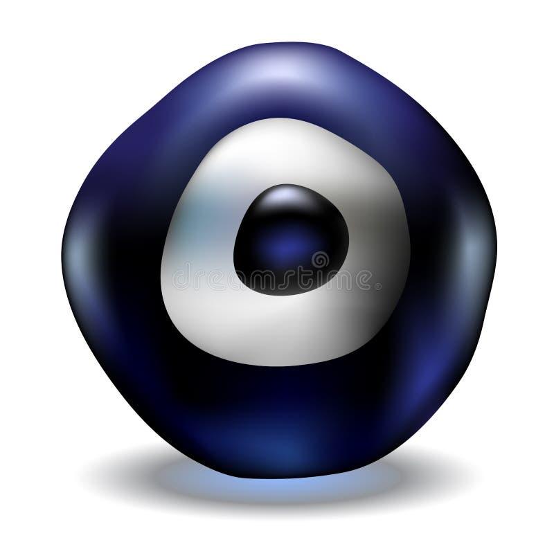 Blaues Korn des schlechten Auges vektor abbildung