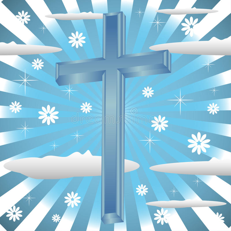 Blaues Kreuz lizenzfreie abbildung